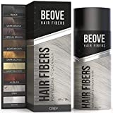 Gray Hair Fibers for Thinning Hair - Make Your Hair Look Fuller & Thicker Instantly, 100% Undetectable Natural Formula – For Men & Women – Cruelty-Free, Vegan, 25 Gram.
