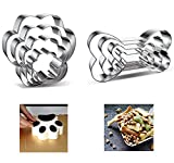 8PCS - Dog Cookie Cutter Set - Dog Bone and Dog Paw Print Biscuit Cookie Mold for Homemade Treats - Stainless Steel(Assorted Sizes)