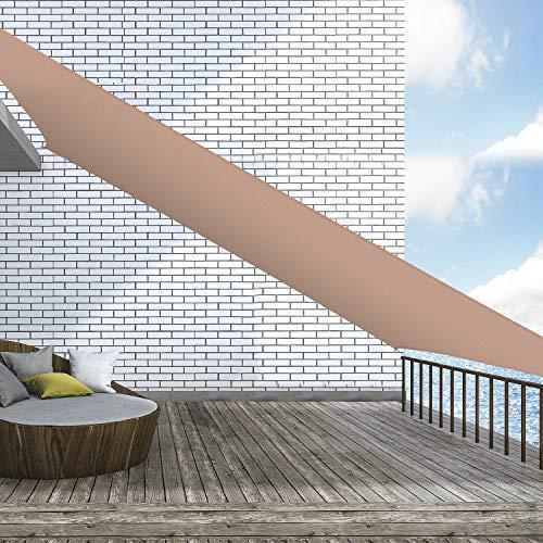 Outsunny Toldo Vela Rectángulo 4x6m Vela de Sombra para Terraza Jardín Camping Resistente al Agua Protección UV Poliéster Color Arena
