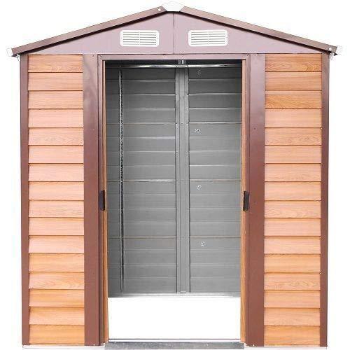 ITALFROM caseta trastero Garaje Coche para jardín Chapa galvanizada – Medida 366 X 321 cm. Altura: Amazon.es: Hogar
