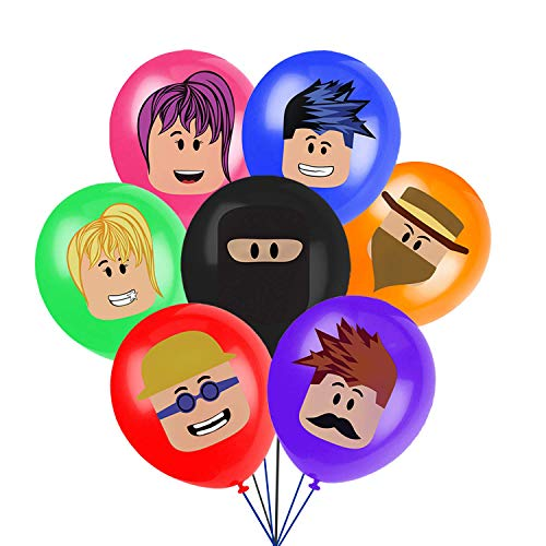 Robot Blocks Party Supplies, Video Game Balloons Birthday Party Decorations, Includes 7 Character Printed Ideal for Kids Party Favors (28PCS)