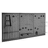 VonHaus — Panneau perforé 3 pans en métal — 45 pièces — Rangement mural pour...