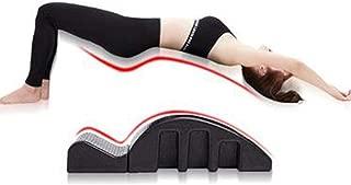 LEFJDNGB Yoga Fitness Equipment Pilates Spine Correction Cervical Correction for Training, Pilates Massage Bed Detachable Design Relieve Stress and Pain, Black