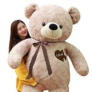 AMIRA TOYS テディベア 特大 クマのぬいぐるみ 大きいぬいぐるみ くま 抱き枕 熊 手触りふわふわ 癒し インテリア (ブラウン, 145cm)