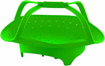Silicone Vegetable Steamer Basket (Green)