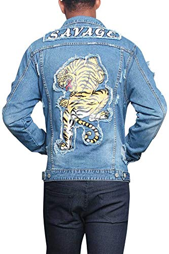 Denim Jackets Tiger Men