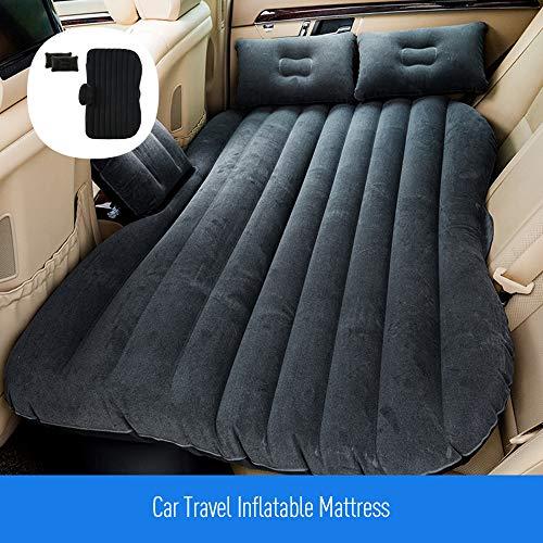 KKmoon - Colchón hinchable para coche, asiento hinchable, cojín portátil con bomba de aire y dos cojines de aire