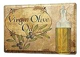 WallAdorn Tin Olive Branch Olive Oil Bottle Eisen Poster