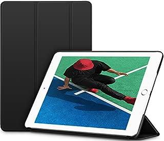 ESR ケース 新しい iPad 9.7 2018/2017 ケース 超軽量 極薄 レザー 三つ折スタンド オートスリープ機能 スマートカバー 全5色 2017年と2018年発売の 新しい9.7インチ iPad 対応(モデル番号A1822、A1823、A1893、A1954)(マット・ブラック)