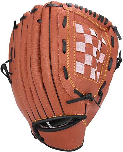Baseball Glove Softball Gloves – Right Hand Throw 10.5' for Kids Youth Adult — Easy Break in Baseball Mitt (Brown, 10.5)