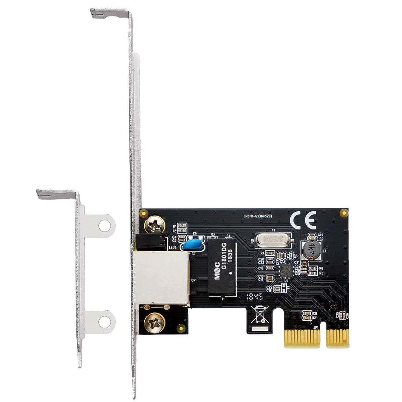 免除スピーチうつエアリア ジーノ四世 PCI Express x1 接続 ギガビットイーサネット1ポート Realtekチップ搭載 Windows 10 対応 SD-PEGLAN-1L2