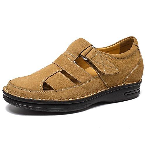 CHAMARIPA CHAMARIPA - Erhöhung Höhe Schuhe Fisherman Elevator Sandalen Größere Schuhe für Männer - 7 cm Taller - T73H11