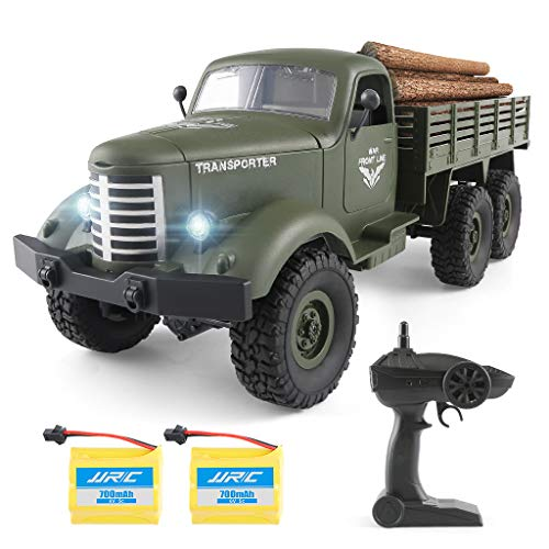 Rc Cars Rc Trucks Military Off-Road Crawler Rc Trucks, 1:16 Scale 6WD 2.4Ghz Remote Control Trucks Army Cars Toys for Boys Adults and Kids