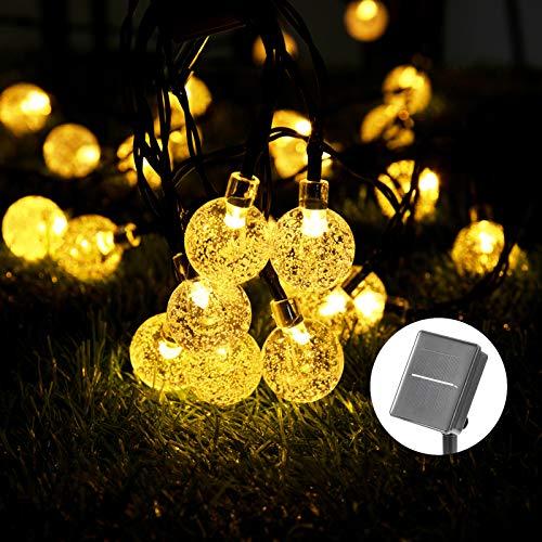 Solar Luces Decorativas 40 LED 8M/26.3FT Impermeable Solar Bola de Cristal Luz Decorativa Luces...