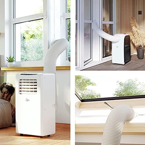 SUNTEC Air-Block-Klima Sail [Zubehör-Set für mobile lokale Klimageräte, Praktisches Segel zur Abdichtung von Fenstern/Türen inklusive Reißverschluss-Öffnung, Einfache Fixierung + Rückstandslose Entfernung]