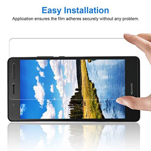 CRXOOX 3 Stück Panzerglasfolie für Huawei P9 Lite Panzerglas Schutzfolie HD Klar Anti-Kratzen, Anti-Fingerabdruck Blasenfrei Einfache Installation Displayschutzfolie Folie für P9 Lite - 5
