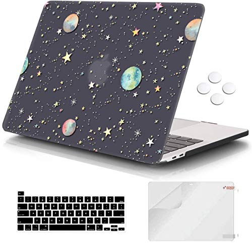 Macbook Pro 13 inch Case 2020 Release A2338 M1 A2251 A2289, iCasso Plastic Hard Shell Case Protective Cover & Keyboard Cover Compatible New Macbook Pro 13 inch with Touch Bar & Touch ID - Starry Night
