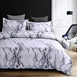 Bettbezug, Bedruckt Set, Mikrofaser Bettwäsche-Set, Polyester-Mischgewebe, Weiß, King Size, bettdecken Set 4teilig, bettbezüge135x 200,200 * 230 cm