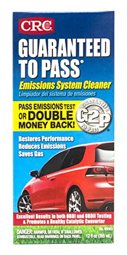 CRC 05063 12 Fluid Ounce Guaranteed to Pass Emissions Test Formula (2 Bottles 12 Oz)