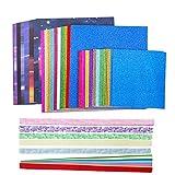 INHEMING Papel de Origami,90 Hojas Doble Cara para Papiroflexia de Colores ,para Proyectos de Arte y Manualidades