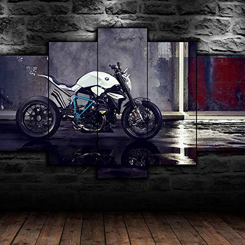 199Tdfc Imprimir sobre lienzo - Ciclista BM Roadster - mural - Cuadro sobre Lienzo - de una Sola Pieza - Impresión en Lienzo - Listo para Colgar - en un Marco - XXL100x55cm