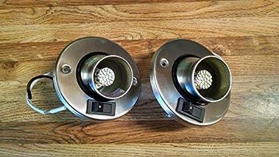 Gustafson Lighting 2pk 12V LED RV Camper Trailer Motorhome Directional Reading Light Brushed Nickel (2)