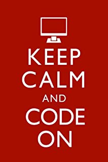 Keep Calm and Code On Red Funny Laminated Dry Erase Sign Poster 12x18