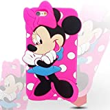 KC Charming Cartoon Girl Soft Bumper Silicon Back Cover for iPhone 6 Plus