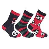 Floso FLOSO® Kinder Rutschfeste Socken (3 Paare) (UK 12-3.5 (EU 31-35)) (Rot/Marine)