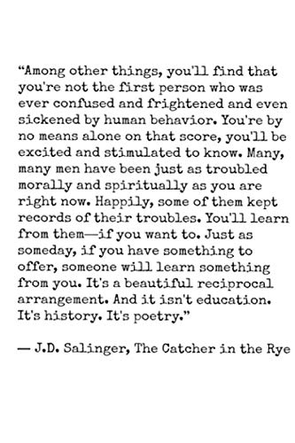 Catcher In The Rye Quote Notebook: (110 Pages, Lined, 6 x 9)