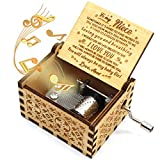 ukebobo Wooden Music Box- You are My Sunshine Music Box, from Aunt to Niece, Unique Music Box for Kids - 1 Set