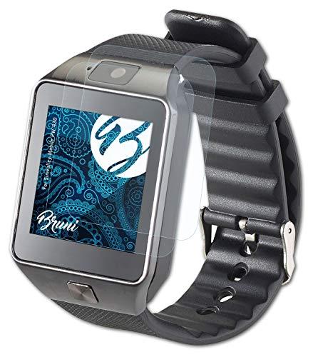 Bruni Schutzfolie kompatibel mit Simvalley-Mobile PW-430 Folie, glasklare Bildschirmschutzfolie (2X)