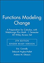 Functions Modeling Change: A Preparation for Calculus, 5th Edition Binder Ready Version  with Webassign Plus Math - 1 Semester All Wiley Access Set