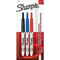 [シャーピー]Sharpie Retractable Ultra Fine Point Permanent Markers, 3 Colored Markers 1735794 [並行輸入品]