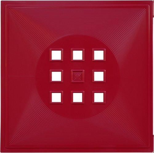 Designer Regaltür als Facheinsatz ca. 33,6cm x 33,6cm * Bordeaux-Rot
