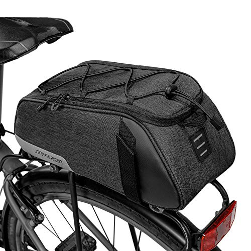 Lixada Bolsa Trasera para Bicicleta Multifuncional Alforja Trasera Bicicleta Bolsa de Hombro para Ciclismo al Aire Libre