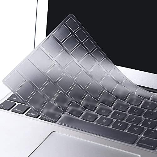 MOSISO Cubierta del Teclado Protectora Compatible con MacBook Pro 13, 15 Pulgadas (con/sin Pantalla Retina)/Compatible con MacBook Air 13 Pulgadas(Versión 2010-2017)(EU Layout),Claro