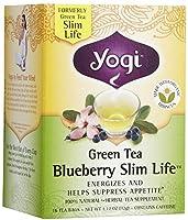 Yogi Tea–グリーンティーブルーベリースリムライフ–16Tea Bags FormerlyグリーンティースリムLife by Yogi Teas [並行輸入品]