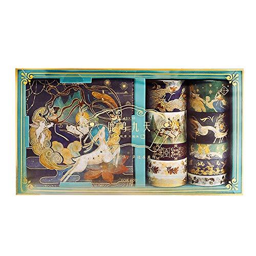 behone Washi Klebeband Washi, Dekorative Masking Tape, Scrapbooking Tape Dekorative DIY Scrapbooking Planner Aufkleber aufkleber set Für Scrapbooking Journal DIY Handwerk Geschenke Dekoration