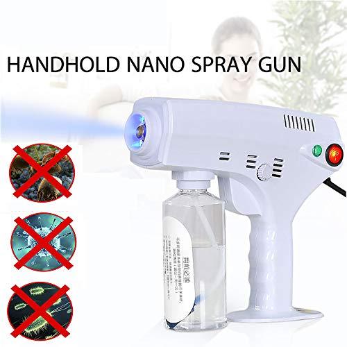 Portable Electric Sterilization Sprayer with Anti Blocking Copper Head, 1300W Blu-ray Anion Ultra-fine Nano Spray Gun for Enterprise/Company/Home - 280ML