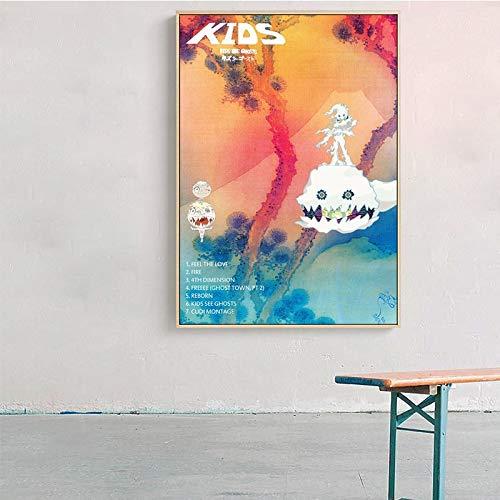 wZUN Música Pop Cubierta música Estrella Carteles e Impresiones Arte de Pared decoración de Imagen 60X90 Sin Marco
