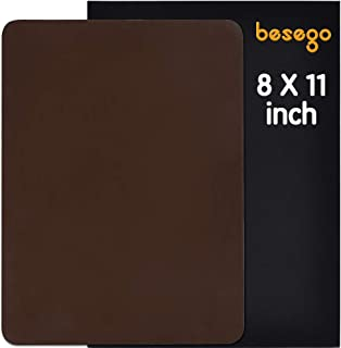 Besego Leather Repair Patch, Leather Adhesive Patch for Sofas, Drivers Seat, Couch, Handbags, Jackets - 8 × 11inch(Medium Brown)