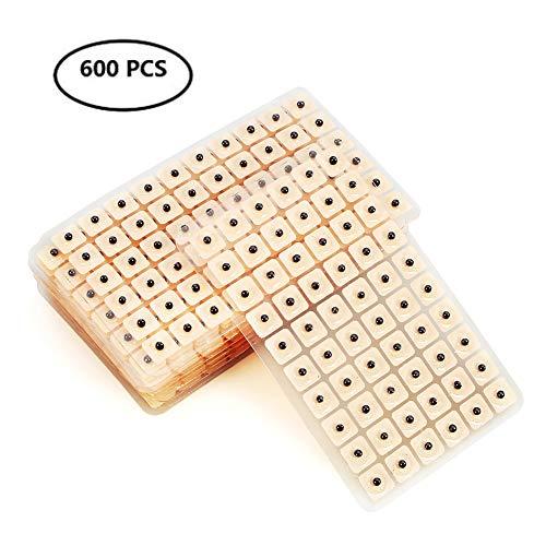 Magnetische acupressuur oorzaden 600 stuks, oorzaden pleister Vaccaria Seed voor oor acupressuur (10 bladeren)