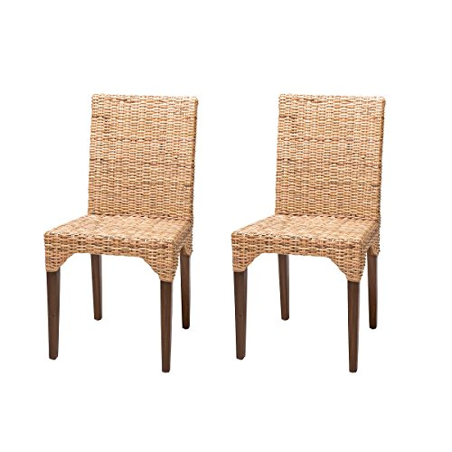 Lote de 2 sillas de Ratan de Comedor Vitor, Baratas y Vintage