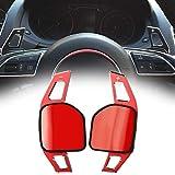 LSYBB DSG Shifters Pegatina Decoración Rueda Paleta Extensión Cambio para Audi A3 S3 A4 S4 A5 S5 A6 S6 S6 A8 R8 Q3 Q5 SQ5 Q7 RS6 RS7