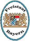 Kaltner Präsente Geschenkidee - Holz Geschenkartikel Deko Türschild im Antik Design Dekoartikel Motiv Wappen FREISTAAT Bayern (18 x 13 cm)