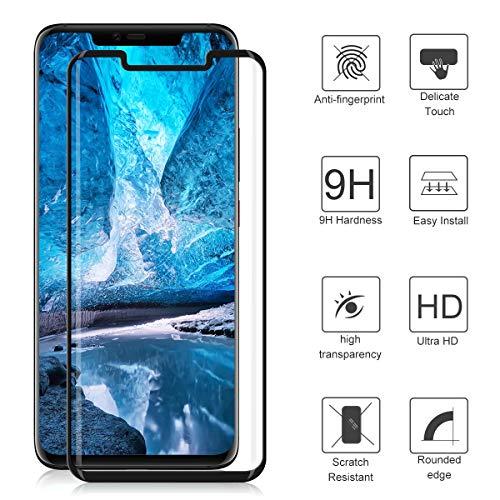 CRXOOX Panzerglas Schutzfolie für Huawei Mate 20 Pro Panzerglasfolie 2 Stück mit Fingerabdrucksensor - 9H Härte Glas Folie, Anti Fingerprint 3D Curved Ultra Dünn HD Case Friendly Displayschutzfolie - 5