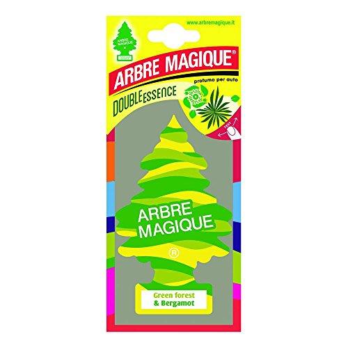 Arbre Magique Mono, Profumatore Auto, Fragranza Green Forest & Bergamot, Profumazione Decisa e Frizzante, Durata fino a 7 Settimane, Made in Italy, Confezione da 1 Pezzo
