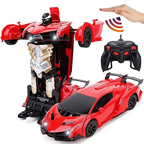 Deformación por inducción Control Remoto Coche King Kong Lamborghinia Racing Rocot Robot Niños Juguete Boy Regalo Modelo Vehículo Auténtico Detalles Modelo Vehículo Educativo Juego de niñas para