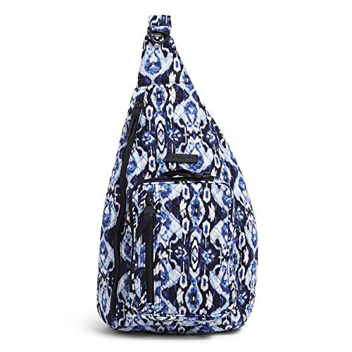 Vera Bradley Women's Signature Cotton Sling Backpack, Ikat Island, One Size